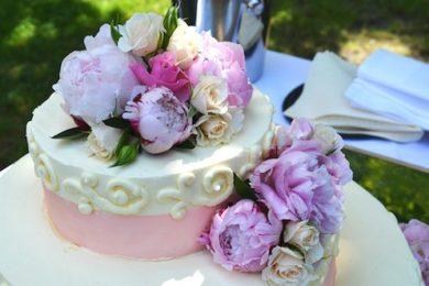 Ornament Roses Cake Wedding Cake Marriage Wedding